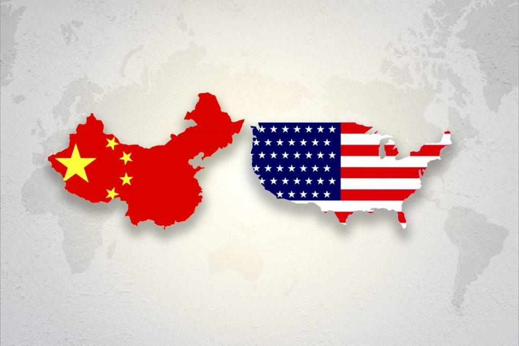 bigstock Print Screen Usa And China Fla 313618897